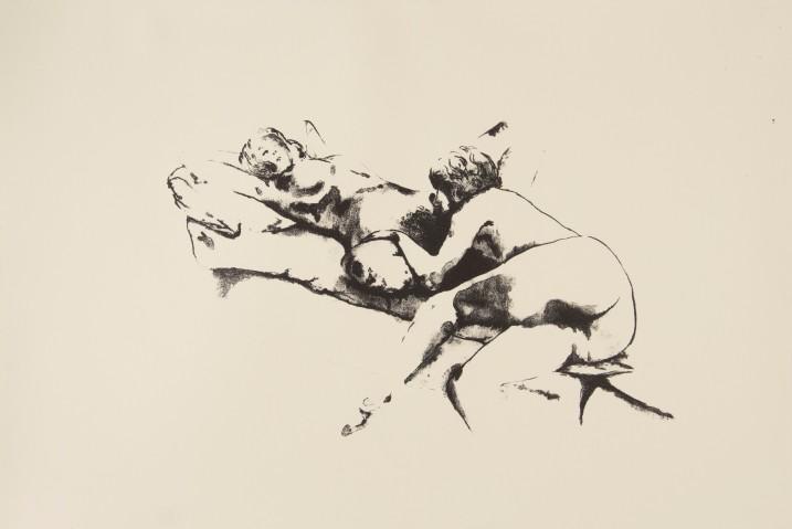 Lithographie Étude Lesbien 31